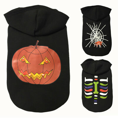 Halloween Pet Hoodie Clothes Puppy Cat Costume Winter Warm Apparel Clothes Ii Au