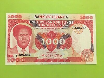 Uganda currency  (bill) 1000 shillings 1983