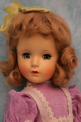 "14"" Madame Alexander Wendy Ann Margaret face HP doll Tagged Party dress 1948"