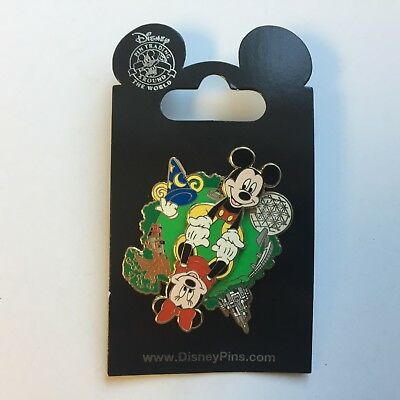 WDW - 4 Park Spinner Mickey & Minnie - Re-released Variation - Disney Pin 88545