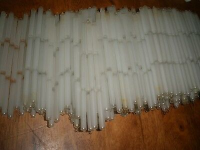 Large lot of 300 pieces Frosted Glass Rods stick for chandelier parts 6""