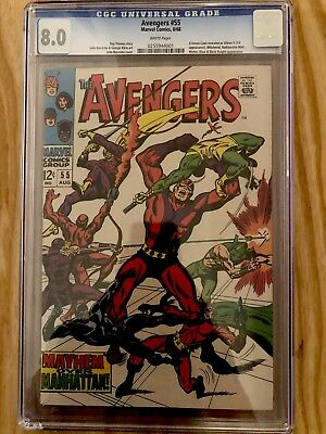 THE AVENGERS #55 1st appearance of ULTRON 1968 Silver Age CGC 8.0