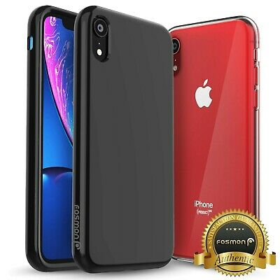 """For Apple iPhone XR Case 6.1"""" Crystal Clear Black Bumper Ultra Slim Case Cover"""
