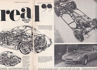 10 LOT TVR Sports Cars History & Specials, Multi-Page Magazine Articles- All UK