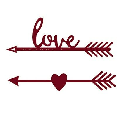 Love Arrow Cutting Dies Stencil For Scrapbooking Embossing Paper Card Decor DIY