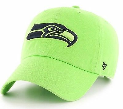 6d3a6ee05 NFL SEATTLE SEAHAWKS Navy Blue Clean-Up Adjustable 47  Brand Hat Cap ...