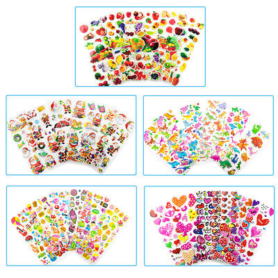 20Pcs 3D Puffy Kids Scrapbooking &Paper Crafts Party Favor Wall Stickers Lot
