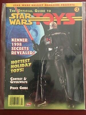 The Official Guide To Star Wars Toys #1 (1997 Topps) Nm Price Guide And More