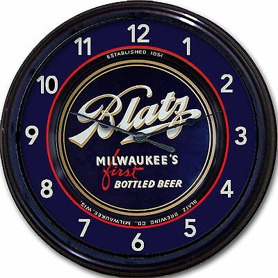 """Blatz Brewing Co Milwaukee WI Beer Tray Wall Clock Ale Lager Brew Man Cave 10"""""""