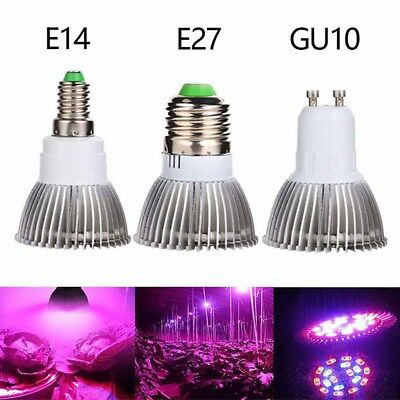E27 E14 GU10 LED Grow Light 18/28W Hydroponic Full Spectrum Plant Growing Bulb