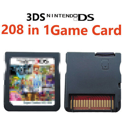 208 Games IN 1 Game Cartridge Multicart For Nintendo DS NDS NDSL NDSi 3DS 2DS XL