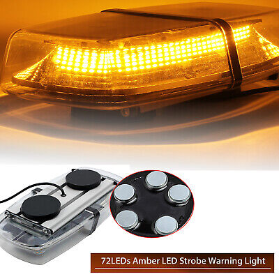 24 LED Beacon Flashing Magnetic Emergency Warning Strobe Amber Lamp DC 12V Light