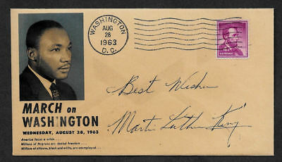 Martin Luther King Jr Collector Envelope with genuine 1963 Postage Stamp OP1155