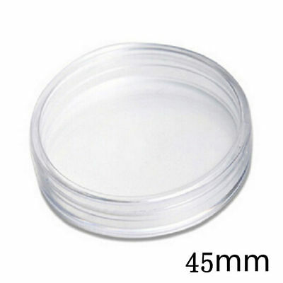 10 X Clear Plastic Coin Display Case Capsules Coin Storage 45MM - For 1oz Coins