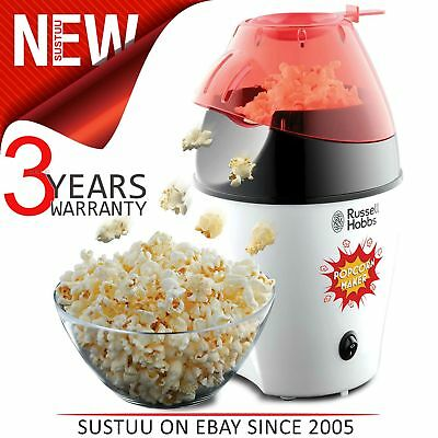 Russell Hobbs 24630 Popcorn Maker│Electric Hot Air│Lid/Spoon│1300 W│No Oil│White