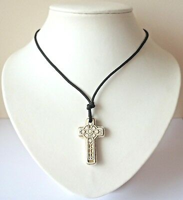 Celtic Cross Choker Necklace/pendant Gothic Pagan Druid Costume Jewellery - New