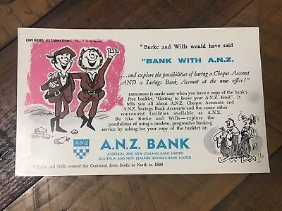 ANZ Bank Blotter 1950's Or Early 60's