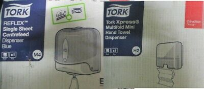 Tork Reflex Single Sheet M3 / M4 Centrefeed Dispenser or Hand Towel H2