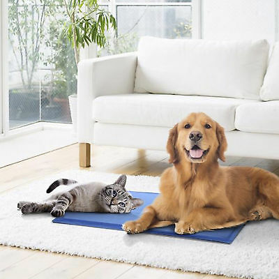 NEW Pet Dog Cat Cool Gel Bed Mat 5 Size Non-Toxic Summer Pad Cooling AU SLR