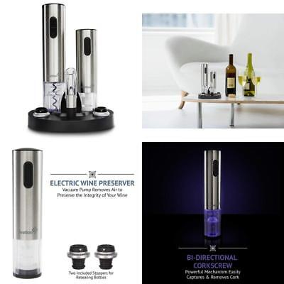 Ivation Wine Corkscrew Gift Set Stainless Steel Electric Vacuum Bottle Opener