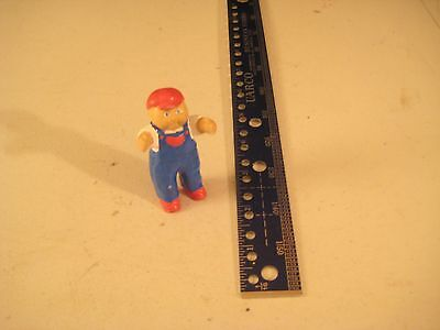 Vintage Cabage Patch Kids Figirune Boy With Backward Ball Cap And Jeans 1980's