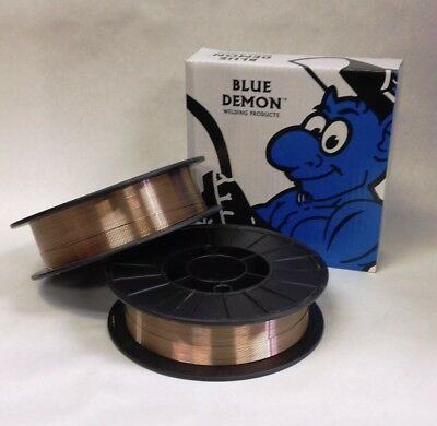 ER70S-6 .030 x 11 lb 2 PK MIG Steel Welding Wire spools Blue Demon