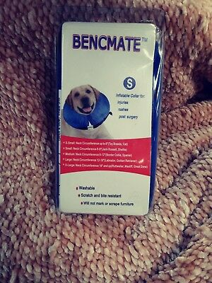 Bencmate Protective Inflatable Collar for Dogs and Cats Size S Blue Brand New