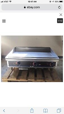 "Star Max 36"" Thermostatic Controlled Gas Griddle,"