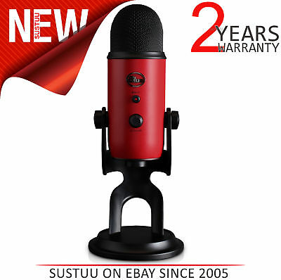 Blue Microphones Professional Yeti USB Mic│4 Polar Patterns│Stereo│Satin Red│NEW