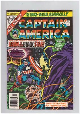 Captain America Annual # 3  The Black Star !  Kirby grade 9.0 scarce !