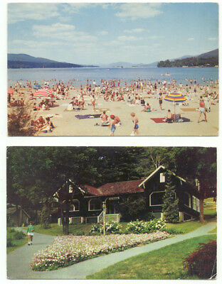 Lake George NY Lot of 2 Vintage Postcards - New York