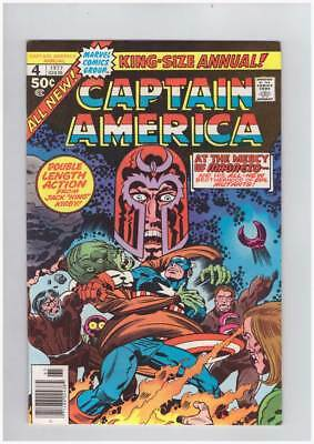 Captain America Annual # 4  At the Mercy of Magneto !  grade 9.2 scarce book !