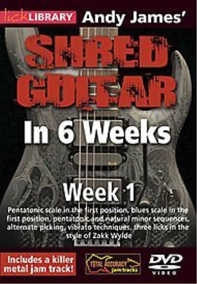 Andy James Shred Guitar In ...-Andy James Shred Guitar In 6 Weeks: Week  Dvd New