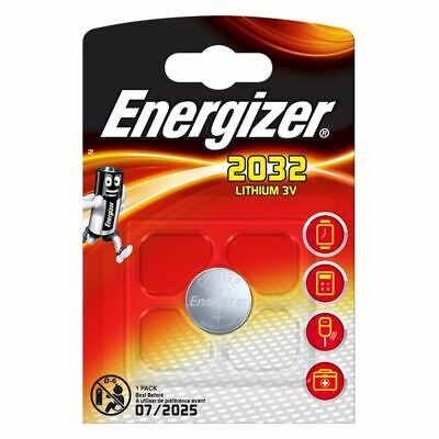 4 x Energizer 2032 Lithium 3V Coin Cell Batteries Best Before 2026