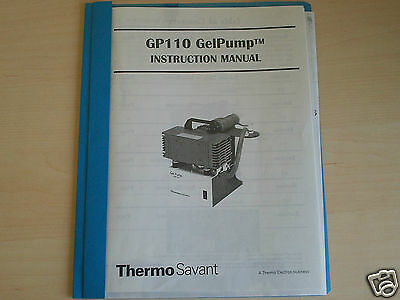 ThermoSavant  GP110 GelPump  Instruction Manual  P/N: 100-3000-00 Rev. C