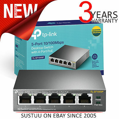 TP-Link TL-SF1005P│5-Port Desktop Switch with 4-Port PoE│10/100Mbps RJ45 Ports