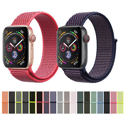 40mm/44mm Woven Nylon Sport Loop Band Strap for iWatch Apple Watch Series 4 US