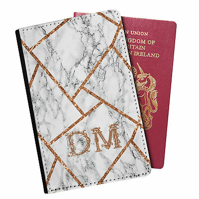 Personalised Marble PU Leather Effect Passport Holder Travel Wallet - 93