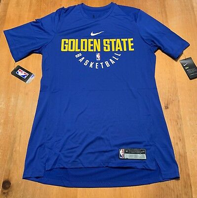 Nike Dry Golden State Warriors Practice Jersey Shirt Mens LT Tall 877532 495 5a7e37bce