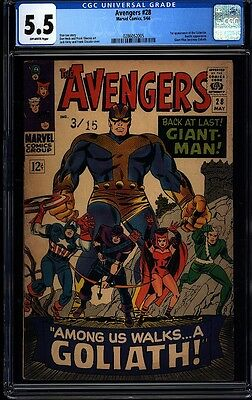Avengers 28 CGC 5.5 OW Silver Age Key Marvel 1st Appearance The Collector L@@K