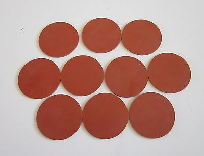 "Solid NEW Commercial Grade Silicone Disc ~2 1/4"" Diameter 3/32"" Made in USA (10)"