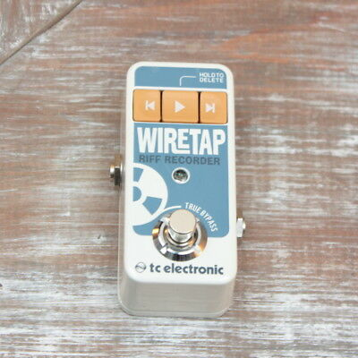 TC Electronics WireTap Riff Recorder Pedal with Power Supply