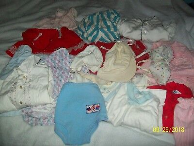 Lot of 21 Pieces Vintage Baby Toddler Clothes Boys Girls Hats