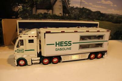Hess Truck-  2003 Toy Truc & Race Cars -  W/sound And Lights- New- S1