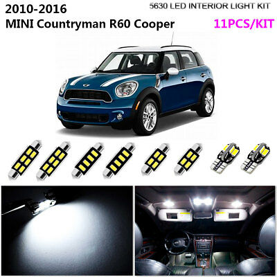 17pcs Cool White 6000k Interior Light Kit Led Fit For R60 Mini