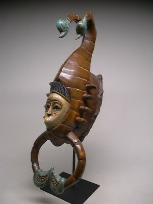 GURO TRIBE SCORPION MASK From Cote d'Ivoire ~ STUNNING!