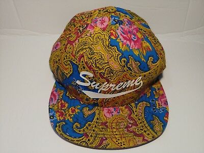 beceba4cd47 NWT SUPREME EASTERN FLORAL 5-PANEL ADJUSTABLE SUPREME SNAPBACK HAT ...