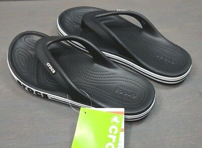 de354075983 NEW CROCS BAYABAND Sporty Black   White Flip Flop (Women s 7