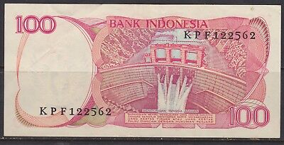 Indonesia 100 Rupiah banknote  circulated  VG 1984 #2