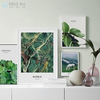 Green Plant Mountain Landscape Poster Prints Home Decor Wall Art Canvas Painting